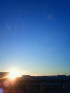 今年最後の夕陽
